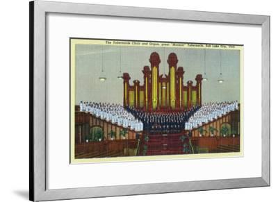 Salt Lake City, Utah, Interior View of the Mormon Tabernacle Choir and Organ-Lantern Press-Framed Art Print