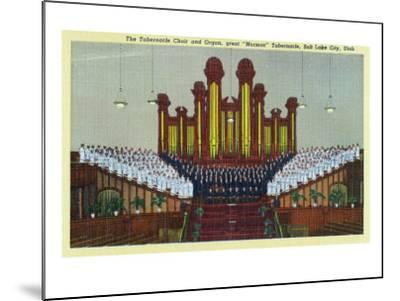 Salt Lake City, Utah, Interior View of the Mormon Tabernacle Choir and Organ-Lantern Press-Mounted Art Print
