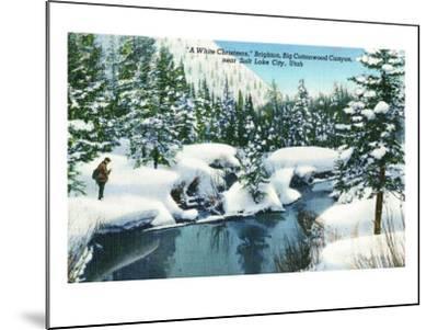 Brighton, Utah, A Snowy Winter Scene in Big Cottonwood Canyon-Lantern Press-Mounted Art Print