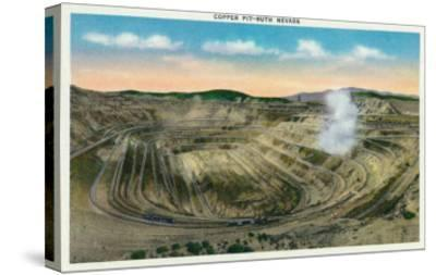 Ruth, Nevada, Panoramic View of a Copper Mine-Lantern Press-Stretched Canvas Print