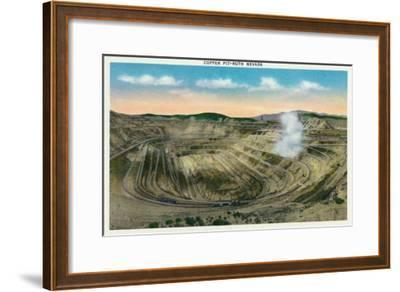 Ruth, Nevada, Panoramic View of a Copper Mine-Lantern Press-Framed Art Print