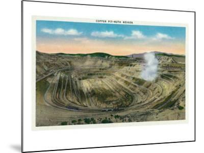 Ruth, Nevada, Panoramic View of a Copper Mine-Lantern Press-Mounted Art Print