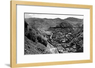 Bingham Canyon, Utah, Aerial View of a Copper Mine-Lantern Press-Framed Art Print