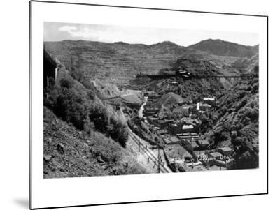 Bingham Canyon, Utah, Aerial View of a Copper Mine-Lantern Press-Mounted Art Print