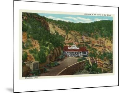 Manitou Springs, Colorado, View of the Cave of the Winds Entrance-Lantern Press-Mounted Art Print