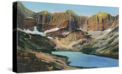 Glacier National Park, Montana, View of Cracker Lake-Lantern Press-Stretched Canvas Print