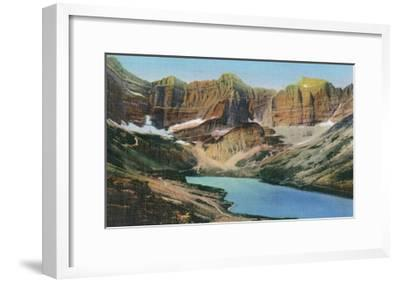 Glacier National Park, Montana, View of Cracker Lake-Lantern Press-Framed Art Print