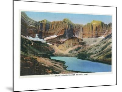 Glacier National Park, Montana, View of Cracker Lake-Lantern Press-Mounted Art Print