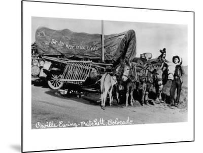 Pritchett, Colorado, View of Orville Ewing with his The Old West Still Lives Wagon-Lantern Press-Mounted Art Print