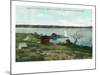 Cushing's Island, Maine, View of Cushing's Landing, Cape Shore in the Distance-Lantern Press-Mounted Art Print
