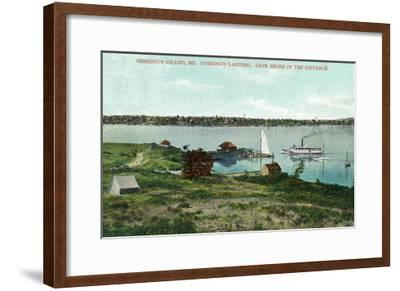 Cushing's Island, Maine, View of Cushing's Landing, Cape Shore in the Distance-Lantern Press-Framed Art Print