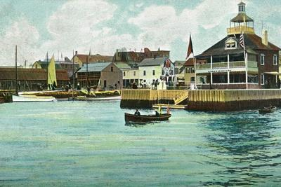 Newport, Rhode Island, View of the New York Yacht Club Station-Lantern Press-Stretched Canvas Print