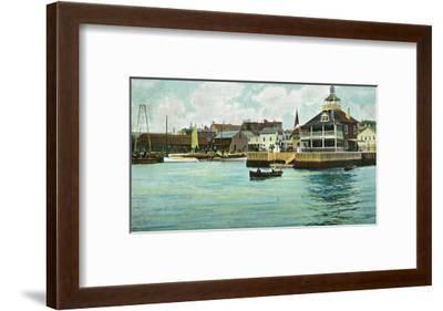 Newport, Rhode Island, View of the New York Yacht Club Station-Lantern Press-Framed Art Print