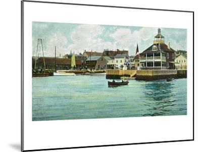 Newport, Rhode Island, View of the New York Yacht Club Station-Lantern Press-Mounted Art Print