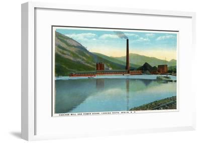 Berlin, New Hampshire, Southern View of the Cascade Mill and Power House-Lantern Press-Framed Art Print