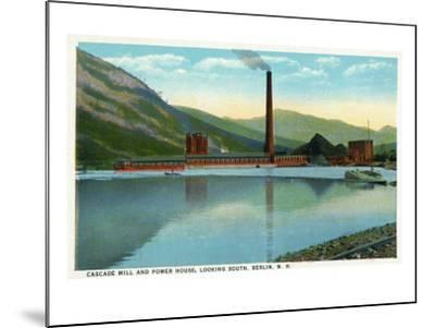 Berlin, New Hampshire, Southern View of the Cascade Mill and Power House-Lantern Press-Mounted Art Print