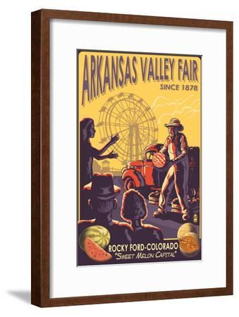 Rocky Ford, Colorado, Arkansas Valley Fair-Lantern Press-Framed Art Print