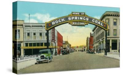 Rock Springs, Wyoming, View of the Rock Springs Welcome Arch-Lantern Press-Stretched Canvas Print