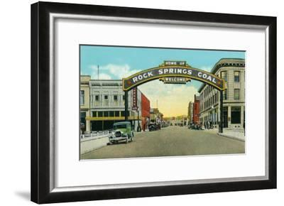Rock Springs, Wyoming, View of the Rock Springs Welcome Arch-Lantern Press-Framed Art Print