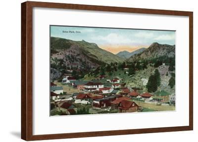 Rocky Mountain National Park, Colorado, General View of Estes Park-Lantern Press-Framed Art Print