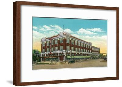 Hershey, Pennsylvania, Exterior View of the Hershey Department Store-Lantern Press-Framed Art Print