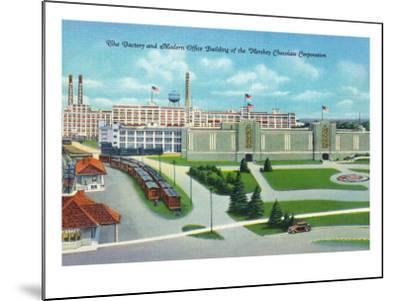 Hershey, Pennsylvania, General View of Hershey Chocolate Factory and Office Building-Lantern Press-Mounted Art Print