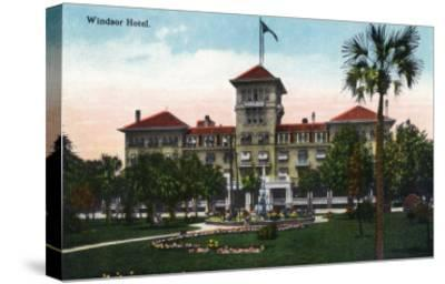 Jacksonville, Florida, Exterior View of the Windsor Hotel-Lantern Press-Stretched Canvas Print