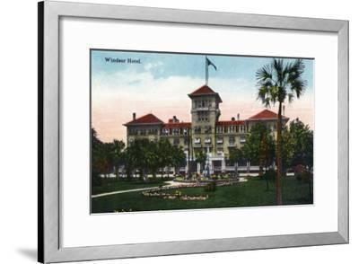 Jacksonville, Florida, Exterior View of the Windsor Hotel-Lantern Press-Framed Art Print