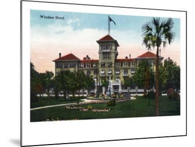 Jacksonville, Florida, Exterior View of the Windsor Hotel-Lantern Press-Mounted Art Print