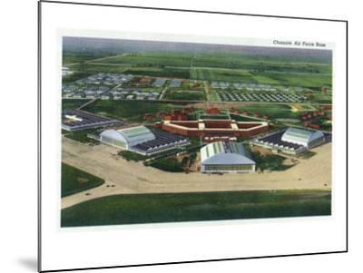 Chanute Air Force Base, Illinois, Aerial Panoramic View of the Base-Lantern Press-Mounted Art Print