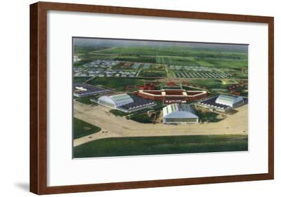 Chanute Air Force Base, Illinois, Aerial Panoramic View of the Base-Lantern Press-Framed Art Print