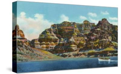 Lake Mead, Nevada, View of the Grand Canyon-Lantern Press-Stretched Canvas Print