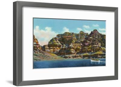 Lake Mead, Nevada, View of the Grand Canyon-Lantern Press-Framed Art Print