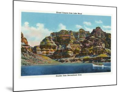 Lake Mead, Nevada, View of the Grand Canyon-Lantern Press-Mounted Art Print