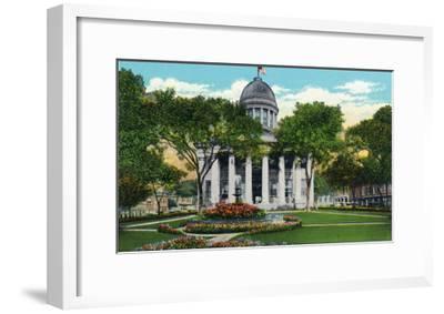 Norfolk, Virginia, Exterior View of City Hall-Lantern Press-Framed Art Print