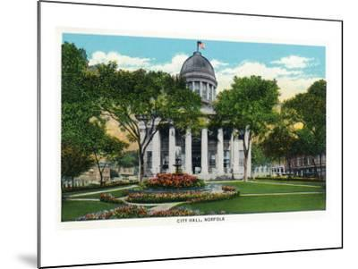 Norfolk, Virginia, Exterior View of City Hall-Lantern Press-Mounted Art Print