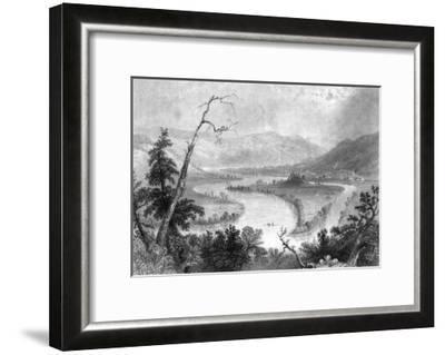 New York, View of the Grand Island on the Susquehanna River above Owego-Lantern Press-Framed Art Print