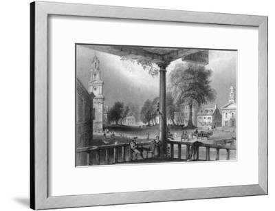 Northampton, Massachusetts, Scenic View of the Town-Lantern Press-Framed Art Print