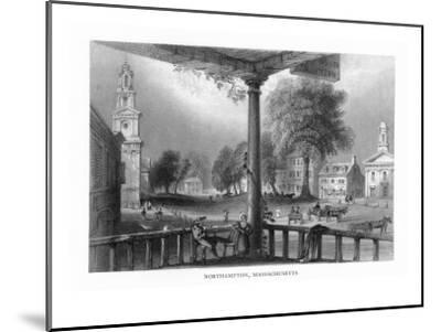 Northampton, Massachusetts, Scenic View of the Town-Lantern Press-Mounted Art Print