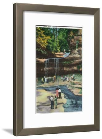 Starved Rock State Park, IL, View of Horseshoe Canyon-Lantern Press-Framed Art Print
