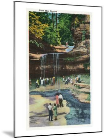 Starved Rock State Park, IL, View of Horseshoe Canyon-Lantern Press-Mounted Art Print