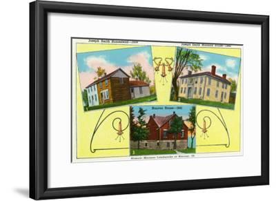 Nauvoo, Illinois, View of Historical Mormon Landmarks in the Town-Lantern Press-Framed Art Print