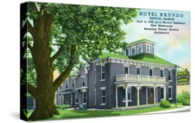 Nauvoo, Illinois, Exterior View of the Hotel Nauvoo-Lantern Press-Stretched Canvas Print