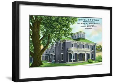 Nauvoo, Illinois, Exterior View of the Hotel Nauvoo-Lantern Press-Framed Art Print