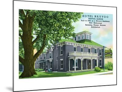 Nauvoo, Illinois, Exterior View of the Hotel Nauvoo-Lantern Press-Mounted Art Print