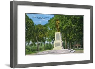 Galena, Illinois, View of the Ulysses S. Grant Statue in Grant Park-Lantern Press-Framed Art Print