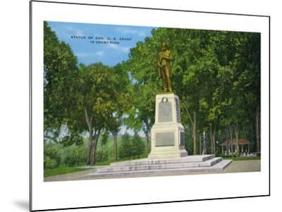 Galena, Illinois, View of the Ulysses S. Grant Statue in Grant Park-Lantern Press-Mounted Art Print