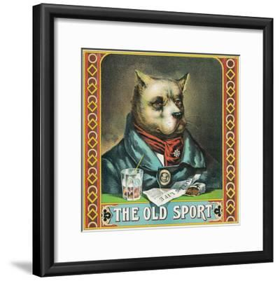 The Old Sport Brand Tobacco Label-Lantern Press-Framed Art Print