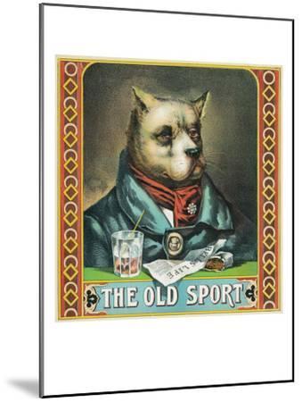 The Old Sport Brand Tobacco Label-Lantern Press-Mounted Art Print