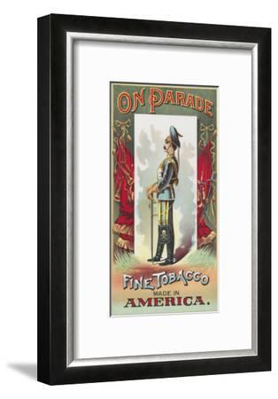 On Parade Brand Tobacco Label-Lantern Press-Framed Art Print